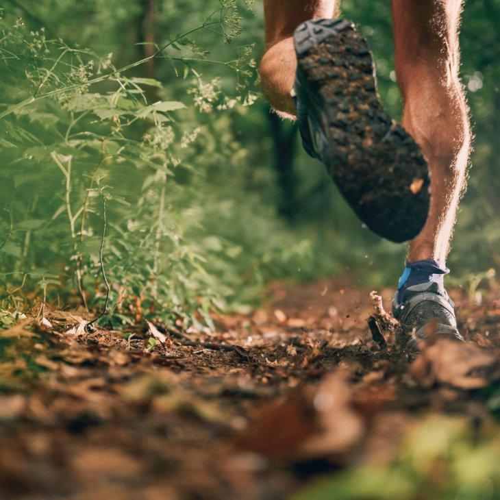 Personne qui court en forêt